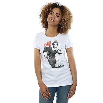 Elf Women's Mono Distressed Poster T-Shirt