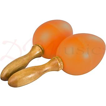 Stagg Orange Plastic Egg Maracas