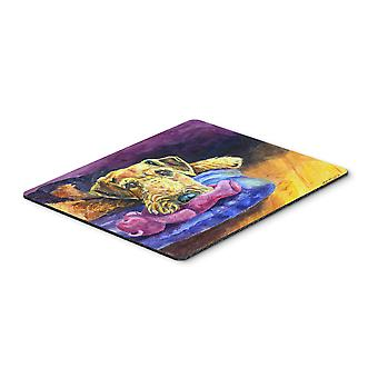 Airedale Terrier Teddy Bear Mouse Pad, Hot Pad or Trivet