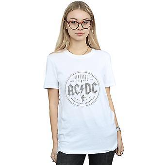 AC/DC naisten Rock N Roll Damnation musta poika ystävä Fit T-paita