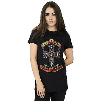 Guns N Roses Women's Appetite For Destruction Boyfriend Fit T-Shirt