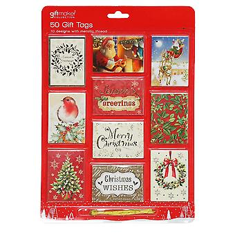 Christmas Shop Foiled Gift Tags (50 Pack)