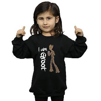 Marvel Girls Avengers Infinity War Graffiti Groot Sweatshirt