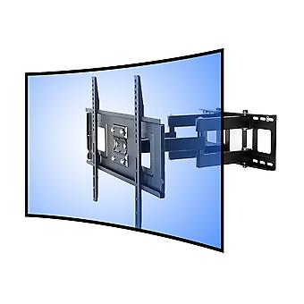 Fleximounts Cr1 Curved Panel Articulating Tv Wall Mount Bracket-Double Arm For 32-65