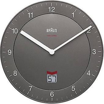 Braun 66040 Radio Wall clock 201 mm x 201 mm x 32 mm Grey