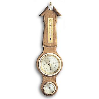 TFA weather station oak solid rustic, thermometer, barometer, hygrometer