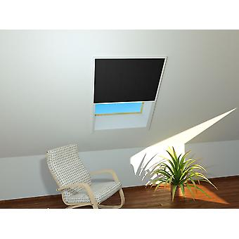 Soleil de toit feuille de fenêtre 110 x 160 cm en blanc - plissé en noir