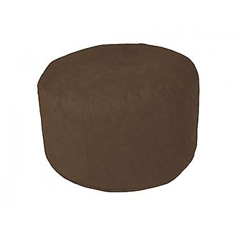 Cushion stools furniture stools pouf Microvelour dark brown large 34 x 47 x 47