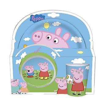 Peppa Pig melamine dinner Set