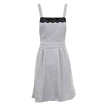 New Ladies Sleeveless Cross Strap Dungarees Skirt Lace Women's Dress