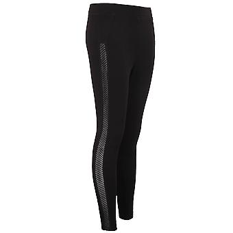 Ladies Cut Out Side Stretch Leggings Plain Slim Ankle Fit Trousers Treggings