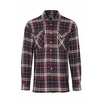 Mens mester Kempton landet stil Casual sjekk langermet skjorte
