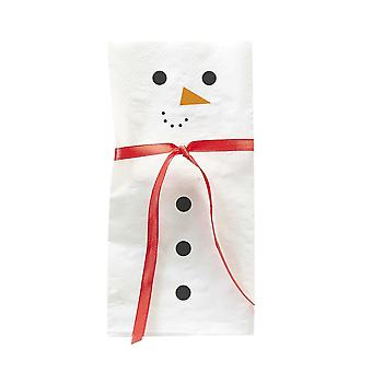 Snowman Scarf Paper Napkins x 16 Christmas Party Table