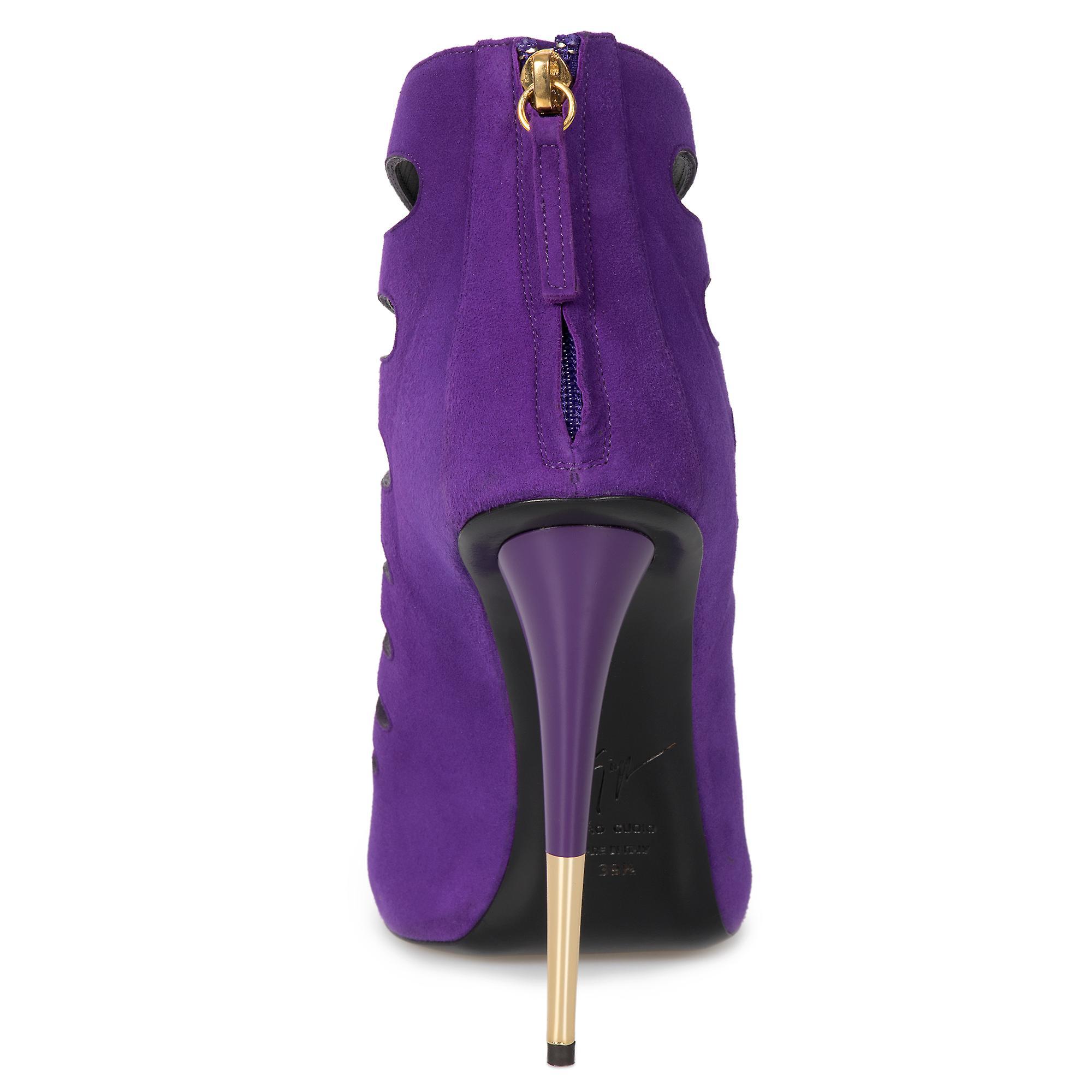 Giuseppe Zanotti Alien Violet Cutout Suede 127mm Ankle Boots