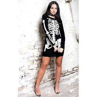 IKRUSH Womens Skeleton Print fancy Dress