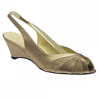 Sabrina Chic Sling Back Peep Toe Wedge Sandal