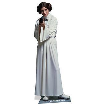 Princesa Leia Organa Star Wars oficial de cartón tamaño natural hueco