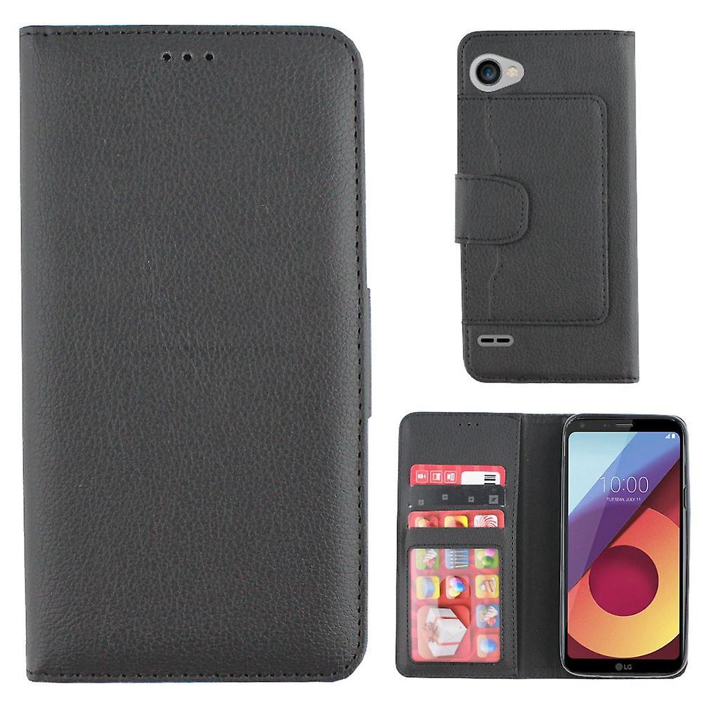 Boîte portefeuille Colorfone LG Q6 (BLACK)