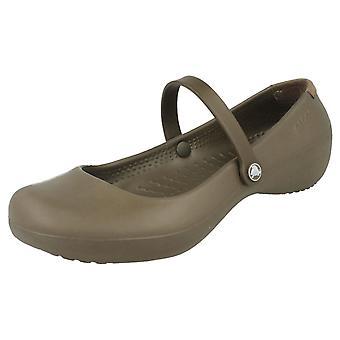 Ladies Crocs Slip på Flats Alice