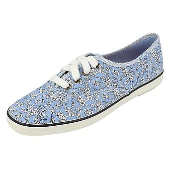Ladies Keds Canvas WF45007 Shoes CH Floral Chambray Size UK 4.5