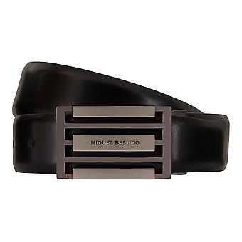 MIGUEL BELLIDO clasico belts men's belts leather belt black 7730