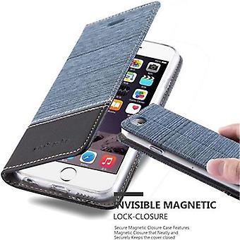 Futerał Cadorabo do obudowy Apple iPhone 6 / iPhone 6S - futerał na telefon z magnetycznym zapięciem, funkcją stojaka i komorą na kartę - Obudowa etui Na pończynię Book Folding Style
