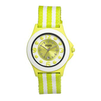 Crayo Carnival Nylon-Band Unisex Watch w/Date - Lime/White