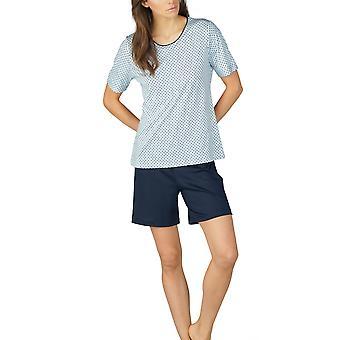 Mey kvinnor 13953-408 kvinnors Sonja Night Blå Prickig bomull pyjamas Set