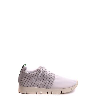 Cuir Crown Ezbc111005 Men-apos;s White Fabric Sneakers