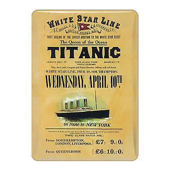 Cena Titanic Mini metalowy znak drukowany magnes na lodówkę (sg)