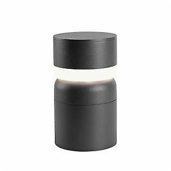 Faro - cinza escuro Sete levou ao ar livre Pedestal FARO75521