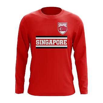 Singapore Core Football Country Long Sleeve T-Shirt (Red)