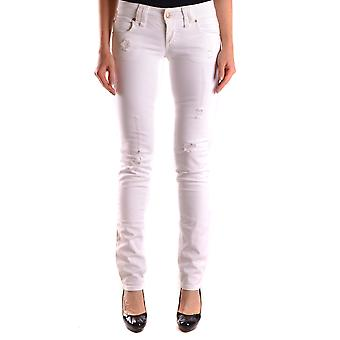 John Galliano Ezbc164019 Women's White Denim Jeans
