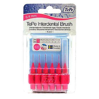 Tepe Interdental Brush 0.4 Pink 6