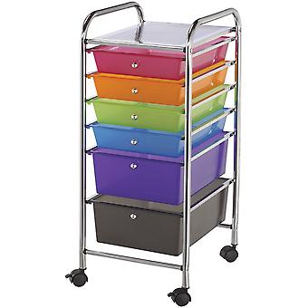 Alvin Rolling Storage Cart W/6 Drawers-13