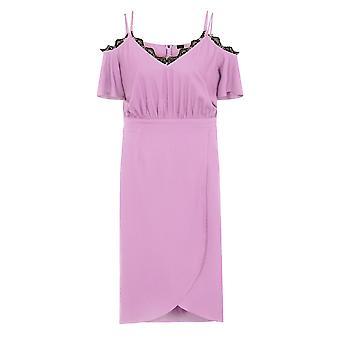 Film De Kızlar Curvy Kadın / Bayanlar Pembe Midi Elbise