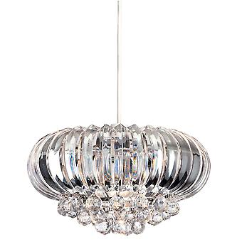 Firstlight - 1 Light Easy-Fit Ceiling Pendant Chrome, Clear Acrylic - 8633CH