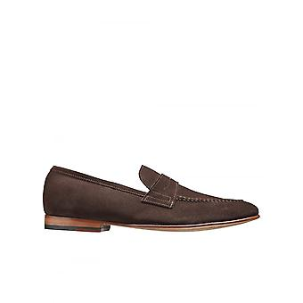 Barker chaussures Ledley Suede loafer-amer choc Suede