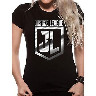 Women's Justice League Foil Logo T-Shirt