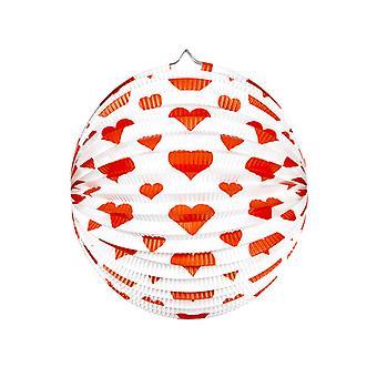 Rote Herzen Lampion