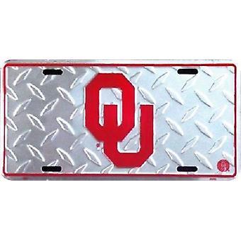 """Oklahoma Sooners NCAA """"Diamond"""" License Plate"""