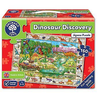 Boomgaard de puzzel van de ontdekking van de dinosaurus van speelgoed