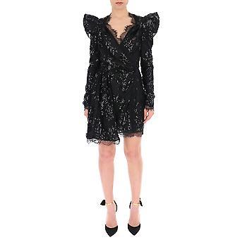 Amen Acs19407089 Robe en nylon noir pour femmes et femmes;s