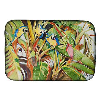 Carolines Treasures  JMK1010DDM Three Blue Parrots Dish Drying Mat