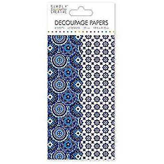 Simply Creative FSC Decoupage Papers Floral Tiles (SCDEC104)