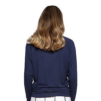 Cyberjammies 4218 vrouwen Emily Navy blauw modal pyjama top