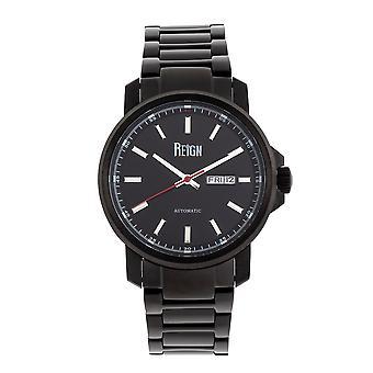 Reign Helios Automatic Bracelet Watch w/Day/Date - Black