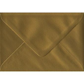 Gold gummiert Geschenk/Ort Karte farbig Gold Umschläge. 100gsm FSC nachhaltigen Papier. 70 mm x 110 mm. Banker Stil Umschlag.