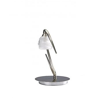 Mantra Loop Table Lamp 1 Light G9 ECO, Satin Nickel