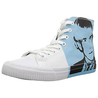Calvin Klein Jeans Womens Iconica Fabric Hight Top Lace Up Fashion Sneakers